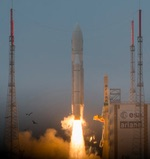 Ariane 5 launch of four Galileo satellites, Dec. 2017 (ESA)