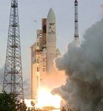 Ariane 5 ECA launch of Astra 2F and GSAT-10 (ESA)