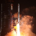 Long March 2C launch of Yaogan-30 03 satellites, Dec 2017 (Xinhua)