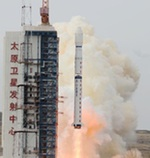 Long March 4C launch of Yaogan-22 (Xinhua)