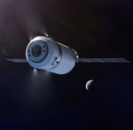 Dragon XL spacecraft heading to the Moon (SpaceX)