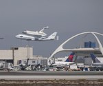 Endeavour and 747 land at LAX (NASA)