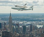 Enterprise and 747 over New York City (NASA)