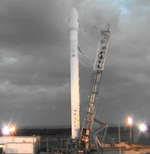 Falcon 9 after second SES-8 launch scrub (SpaceX)