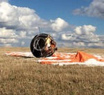 Foton-M4 after landing (Roscosmos)