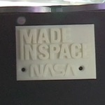 Made in Space first printed item (NASA/Made in Space)