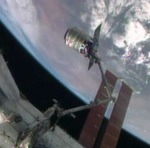 Cygnus grappled by ISS arm on Orb-2 mission (NASA)