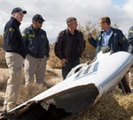 SpaceShipTwo wreckage and investigtors (NTSB)