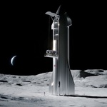 SpaceX Starship on the Moon (SpaceX)